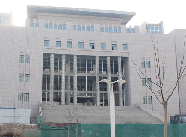 兰州工业学院图书馆一体板工程案例